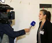Dr. Ing. Marianela Diaz Meyer, head of the Schreibmotorik Institut, in an interview. © hl-studios